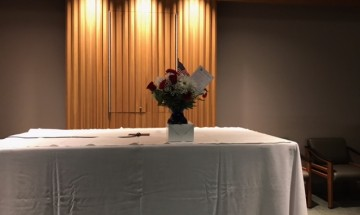 Beautiful arrangement donated by FF - UCC